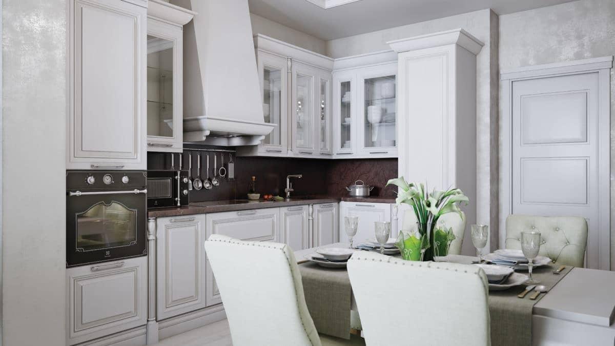 мифическое существо белая кухня в стиле неоклассика фото магнитного пляжа